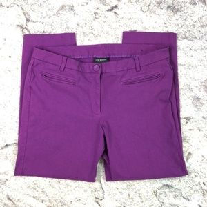 Lane Bryant Stretchy Crop Capri Pants Purple Sz 18